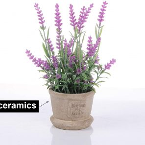 Lavanda artificial 23cm con maceta
