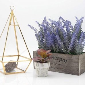 Lavanda artificial 24cm con maceta